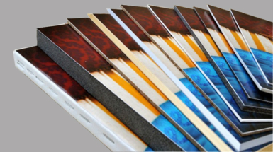 View of standard materials for mounting and presenting prints